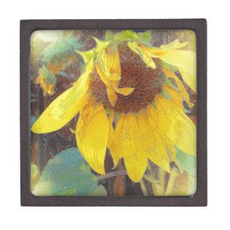 Old Sunflower Bowing Premium Trinket Box