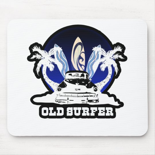 Old Surfer Mouse Pad