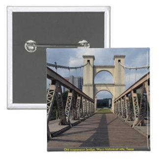 Old suspension bridge, Waco historical site, Texas Pins
