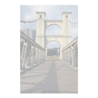 Old suspension bridge, Waco historical site, Texas Stationery Paper