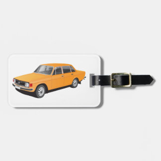 Old Swedish car from early 70's Bag Tag