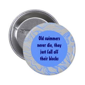 Old swimmers joke pin