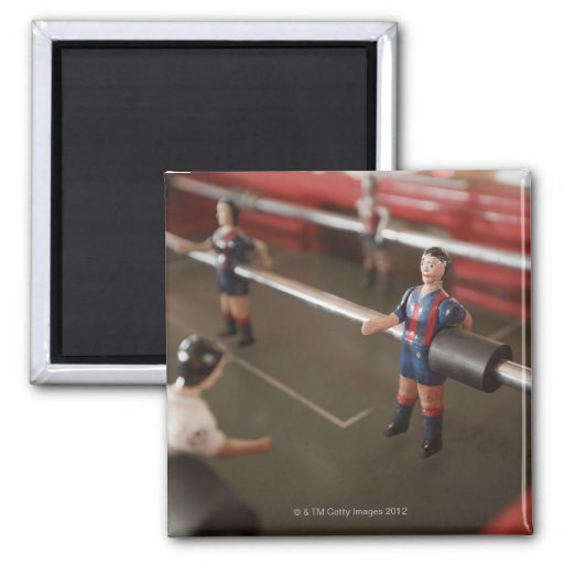 Old table football player 2 inch square magnet