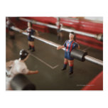 Old table football player postcard