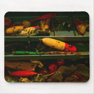 Old Tackle Box Mouse Pad