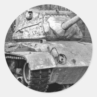 Old tank classic round sticker