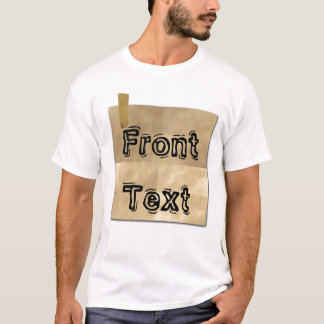 Old Taped Paper Front And Back T-Shirt