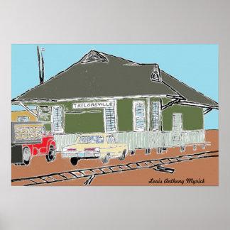 Old Taylorsville Mississippi Train Depot Print