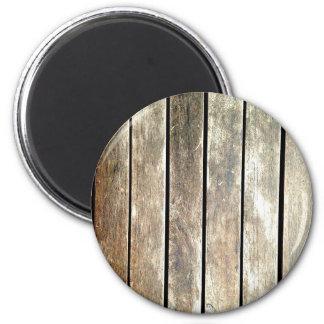Old teak slats 2 inch round magnet
