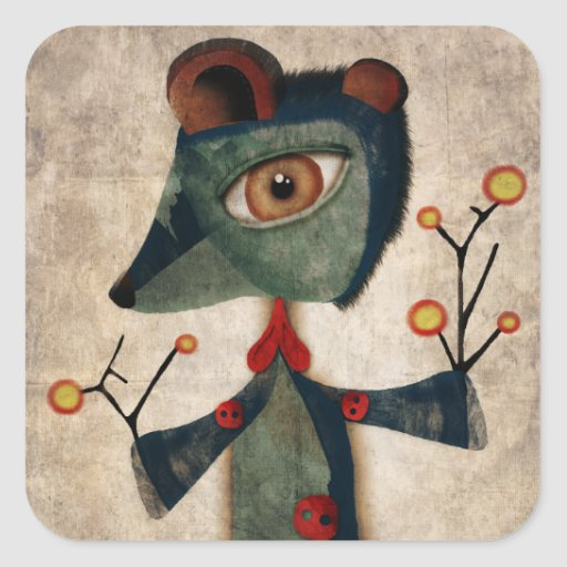 Old Teddy Bear and poppy Sticker