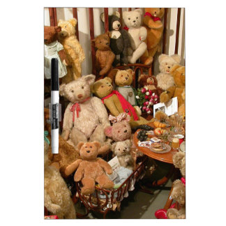 Old Teddy Bears Collection Dry-Erase Board