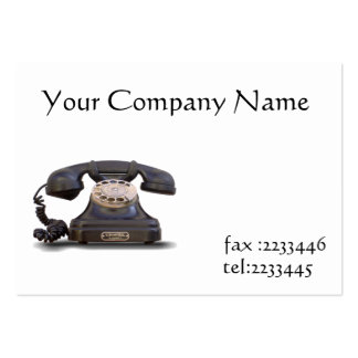 old telephone large business cards (Pack of 100)