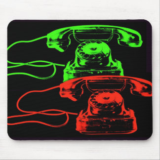 Old Telephone Collage-I Mousepads