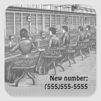 Old Telephone Exchange New Number Sticker