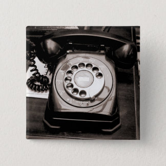 Old Telephone Pinback Button