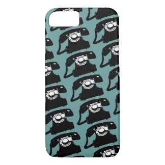 old telephones patterned iPhone 8/7 case