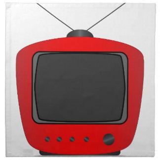 Old Television Set Cloth Napkin