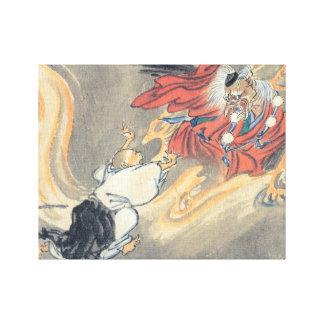 Old Tengu Painting Canvas Print