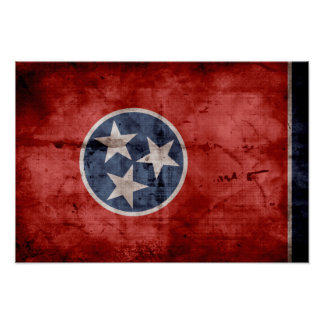 Old Tennessee Flag; Poster