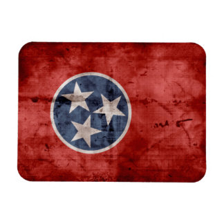 Old Tennessee Flag; Rectangular Photo Magnet