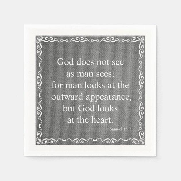 Old Testament Bible Scripture Quote 1 Samuel 16 Napkin Zazzle Com