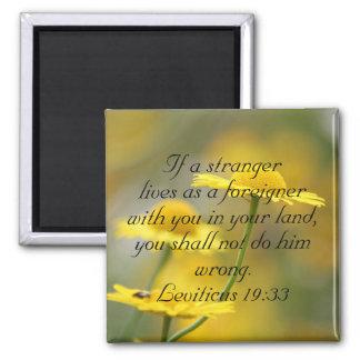 Old Testament Bible Scripture Quote – Leviticus 19 Magnet