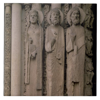 Old Testament figures, from the north embrasures o Tile