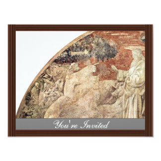 Old Testament Frescoes On Genesis In The Cloister 4.25x5.5 Paper Invitation Card