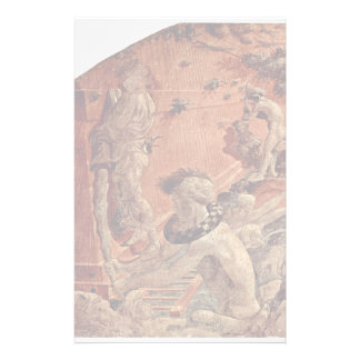 Old Testament Frescoes On Genesis In The Cloister Customized Stationery