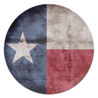 Old Texas Flag Dinner Plate