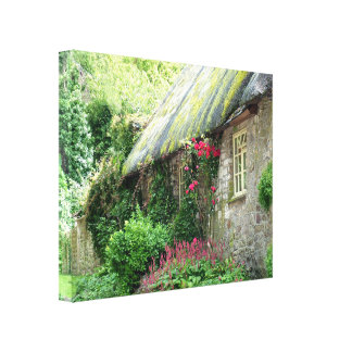 Old Thatched Cottage Canvas Print