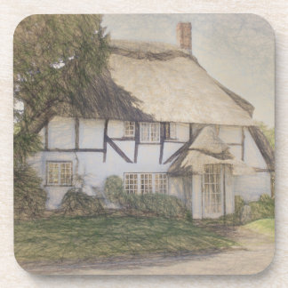 Old Thatched Cottage Coaster
