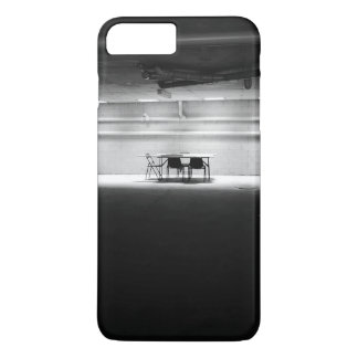 Old Themed, A Black And White Picture Of Few Chair iPhone 7 Plus Case