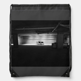 Old Themed, A Black And White Picture Of Few Chair Drawstring Backpack