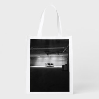 Old Themed, A Black And White Picture Of Few Chair Grocery Bags