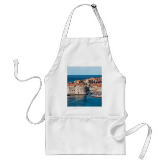 Old Themed, Ancient Village Of Castles With Red Ro Adult Apron