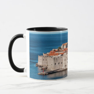 Old Themed, Ancient Village Of Castles With Red Ro Mug