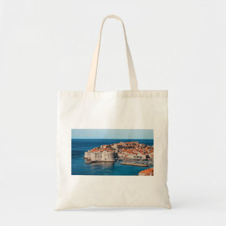 Old Themed, Ancient Village Of Castles With Red Ro Tote Bag