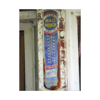 Old Thermometer Canvas Print