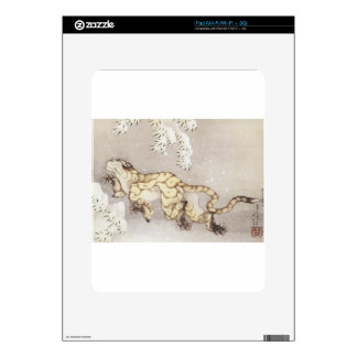Old Tiger in the Snow iPad Decal