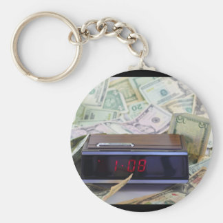 Old Time and Money Keychain