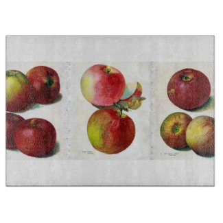 Old Time Apples Glass Cutting Board