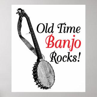 Old Time Banjo Poster