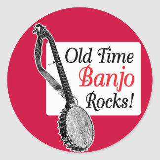 Old Time Banjo Round Sticker