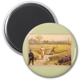 Old Time Base Ball 2 Inch Round Magnet