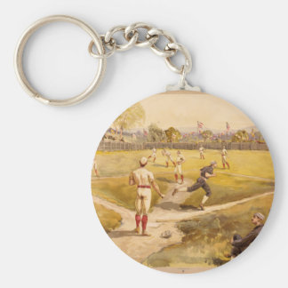 Old Time Base Ball Keychain