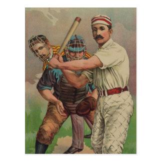 Old Time Baseball Card circa 1895 Post Cards