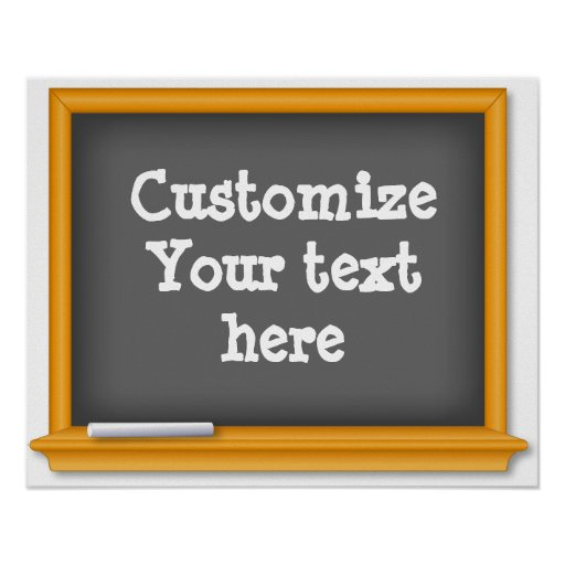 Old Time Blackboard, Customize Your Text Poster
