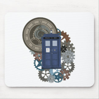 Old Time British Police Box Mouse Pad