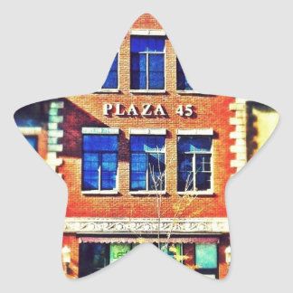 Old Time Buildings, Architecture 01 Star Sticker